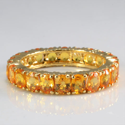 Fancy Yellow Sapphire Eternity Ring | SZ 7.75 |