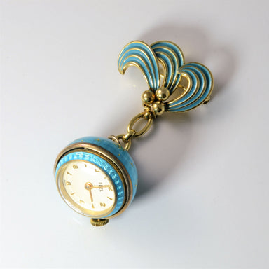 Beautiful Brooch with watch, blue, antique broach, vintage jewelry brooch, vintage brooch canada, antique brooch usa