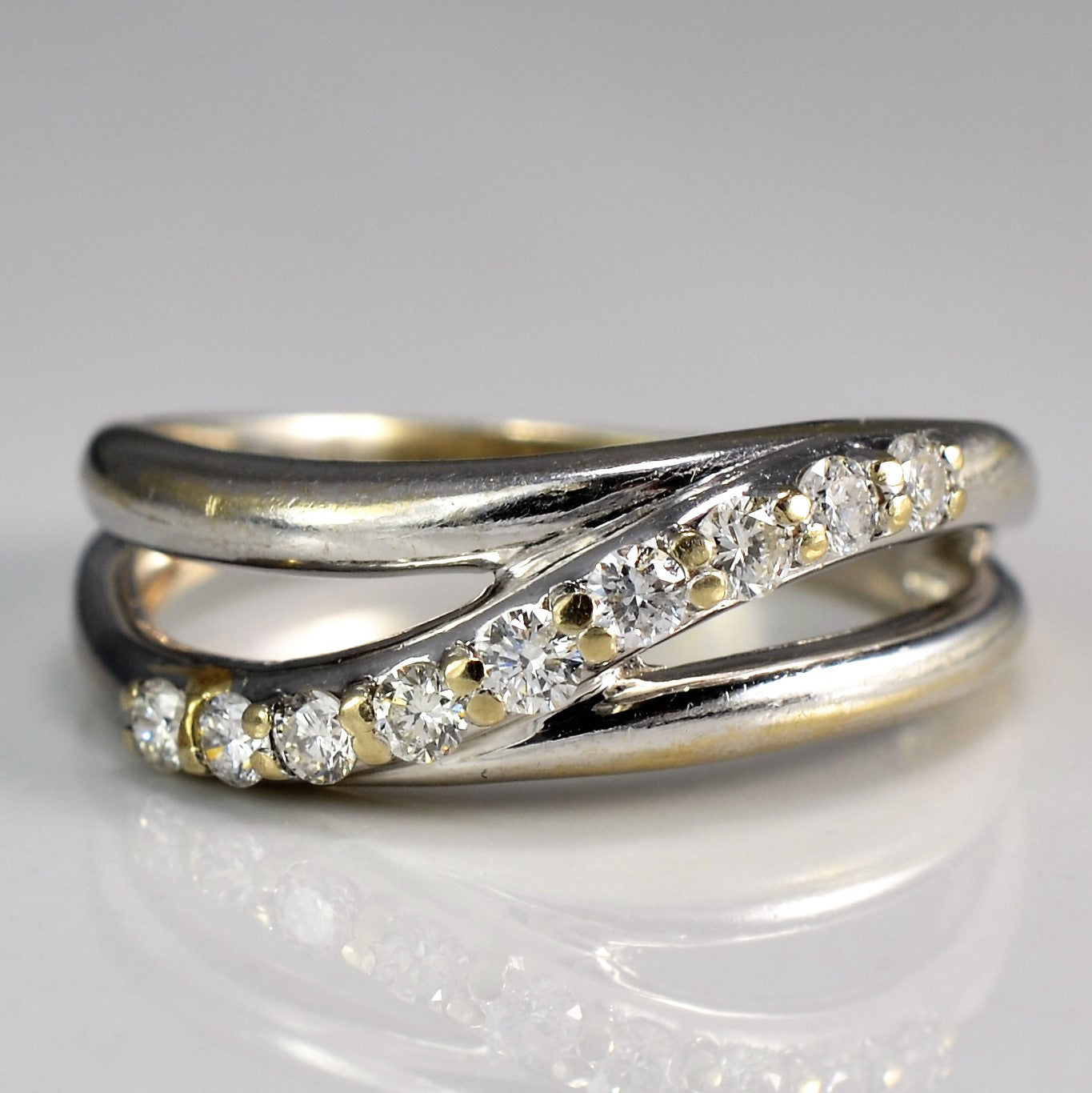 White Gold Diamond Wave Ring | 0.25 ctw, SZ 6.25 |