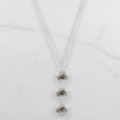 'Tiffany & Co.' Three Disc Drop Necklace | 16"