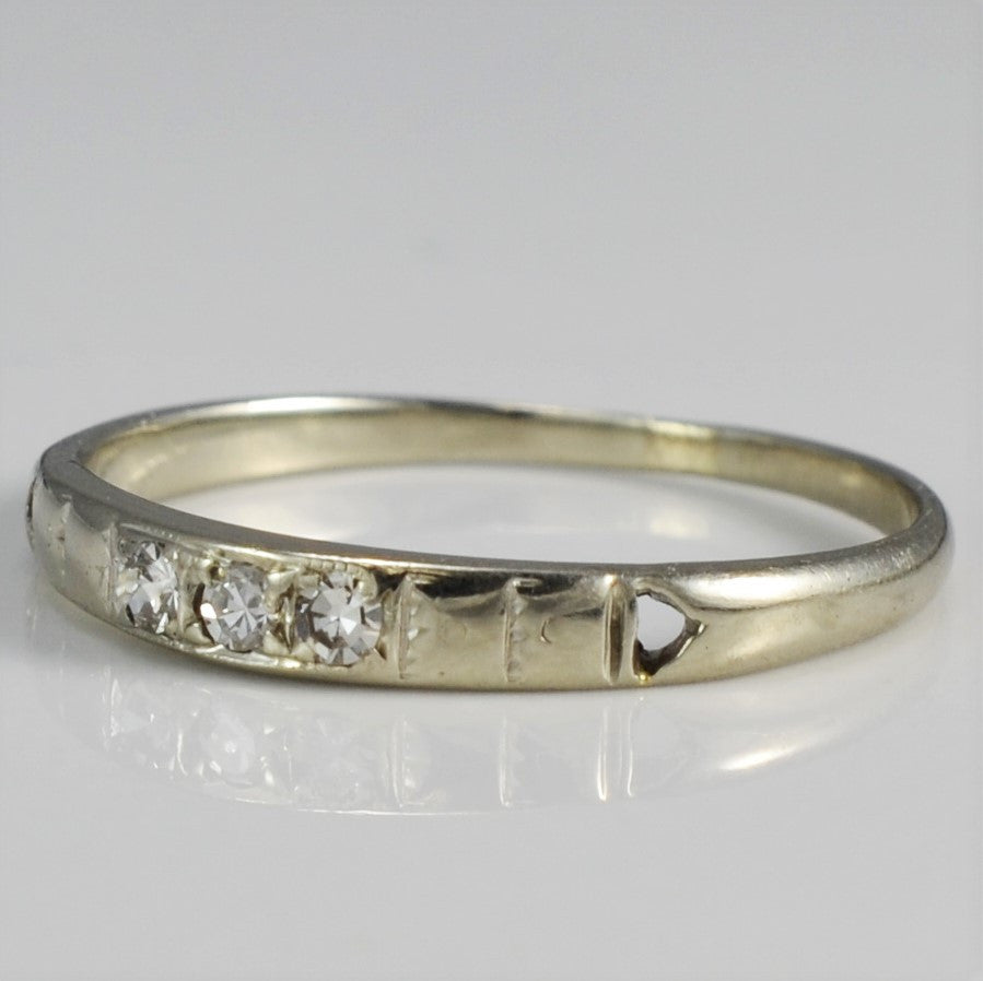 White Gold Art Deco Diamond Band | 0.05 ctw, SZ 6 |
