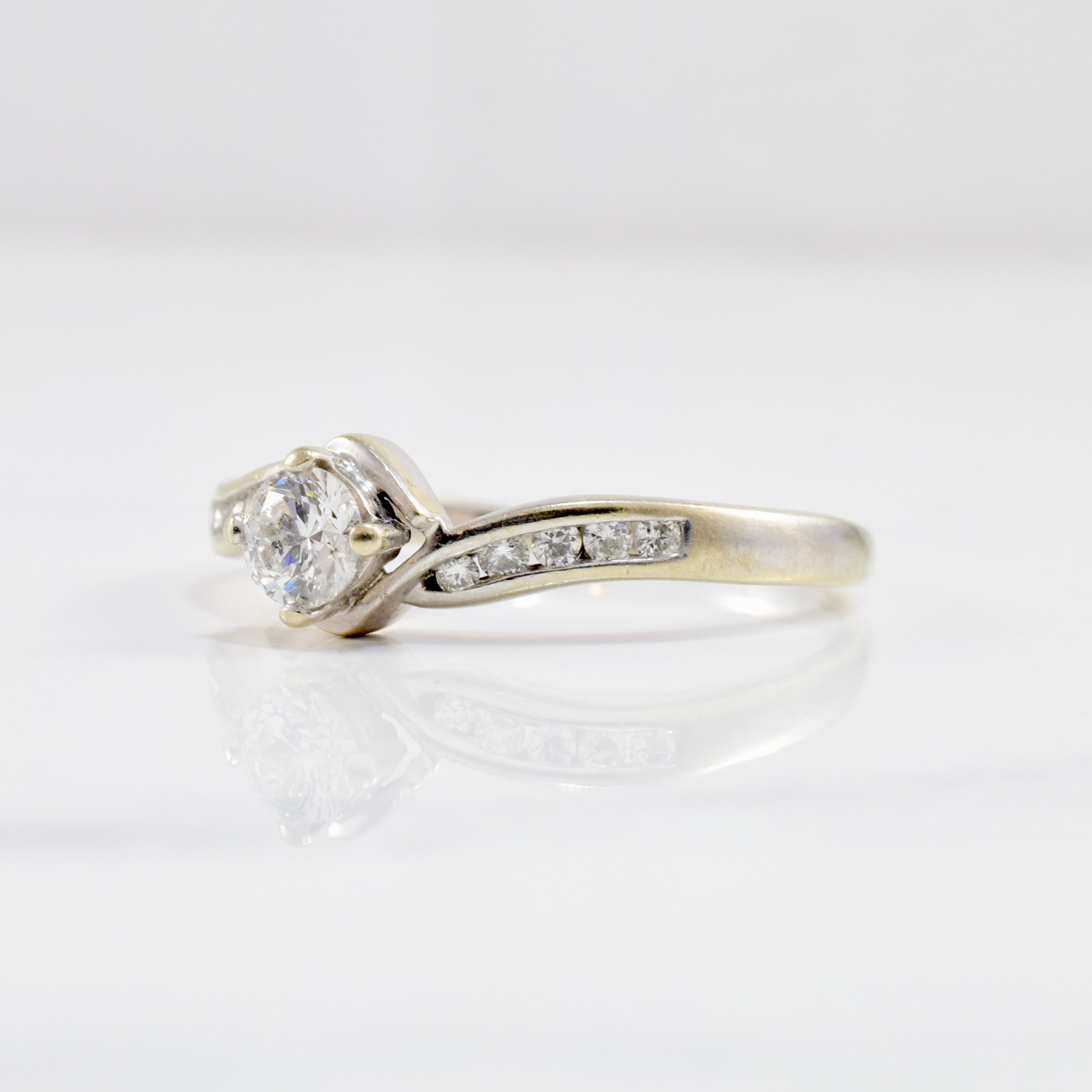Diamond Bypass Engagement Ring | 0.40 ctw SZ 9 |