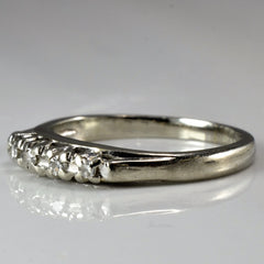 Vintage White Gold Diamond Band | 0.03 ctw, SZ 4.5 |