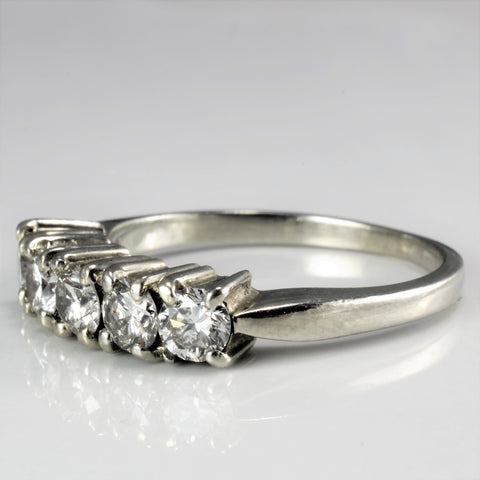 Five Stone Diamond Wedding Ring | 0.90 ctw, SZ 7.25 |