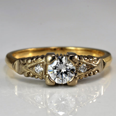 Vintage Engagement Ring Circa 1950's | 0.38 ctw, SZ 6.5 |