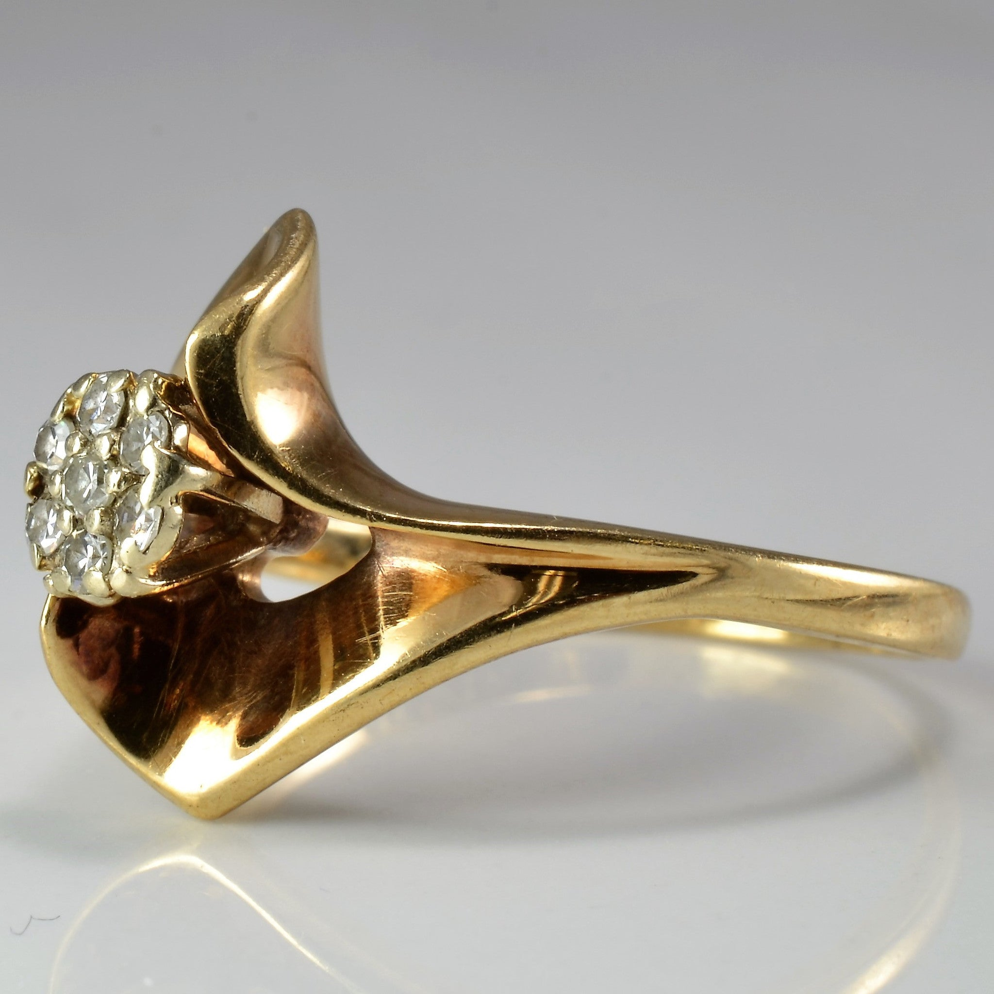 Bold Cluster Cocktail Ring | 0.07 ctw, SZ 8 |