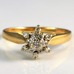 Prong Set Tapered Cluster Ring | 0.07 ctw, SZ 5.25 |