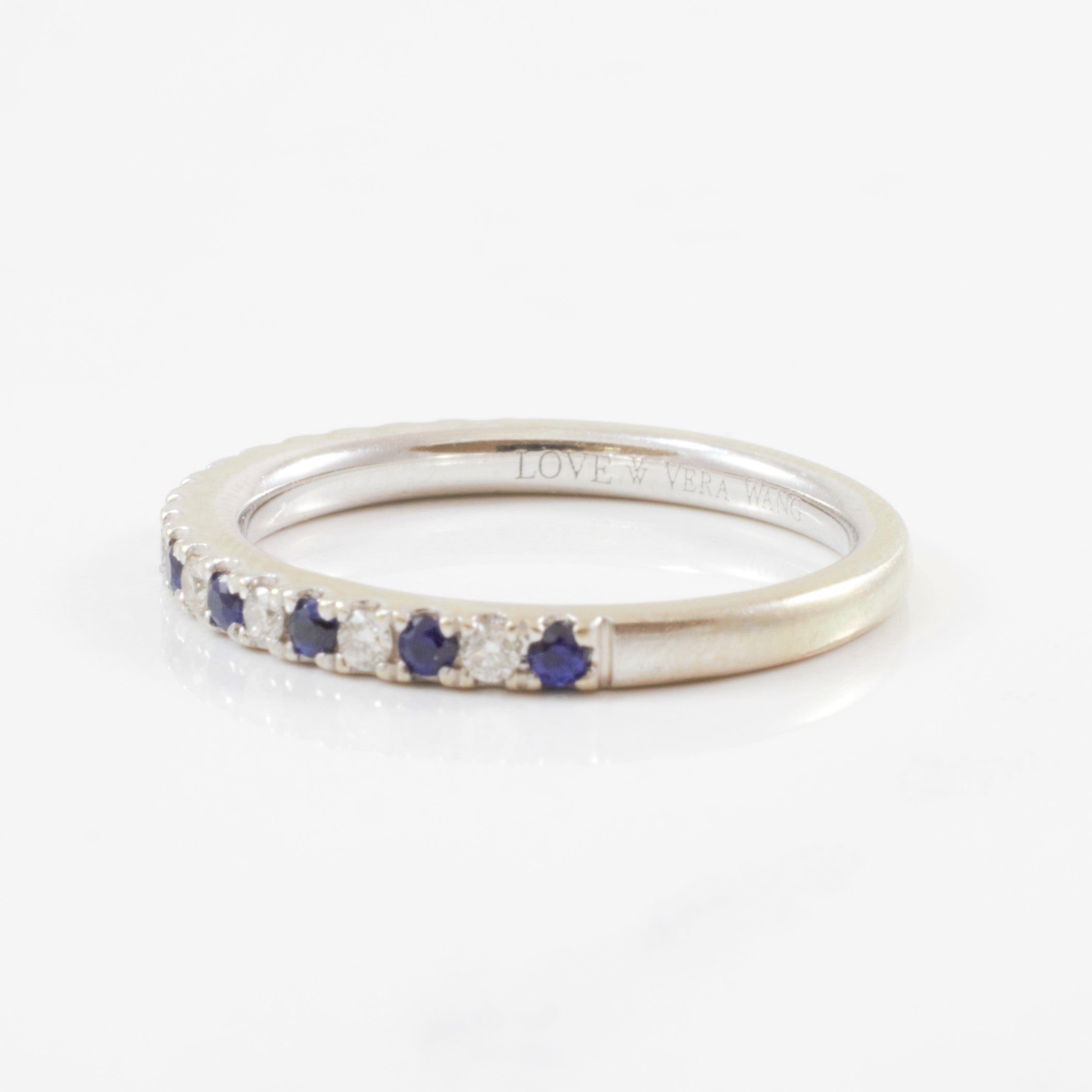 'Vera Wang' Alternating Diamond & Sapphire Band | 0.14ctw, 0.20ctw | SZ 6.5 |