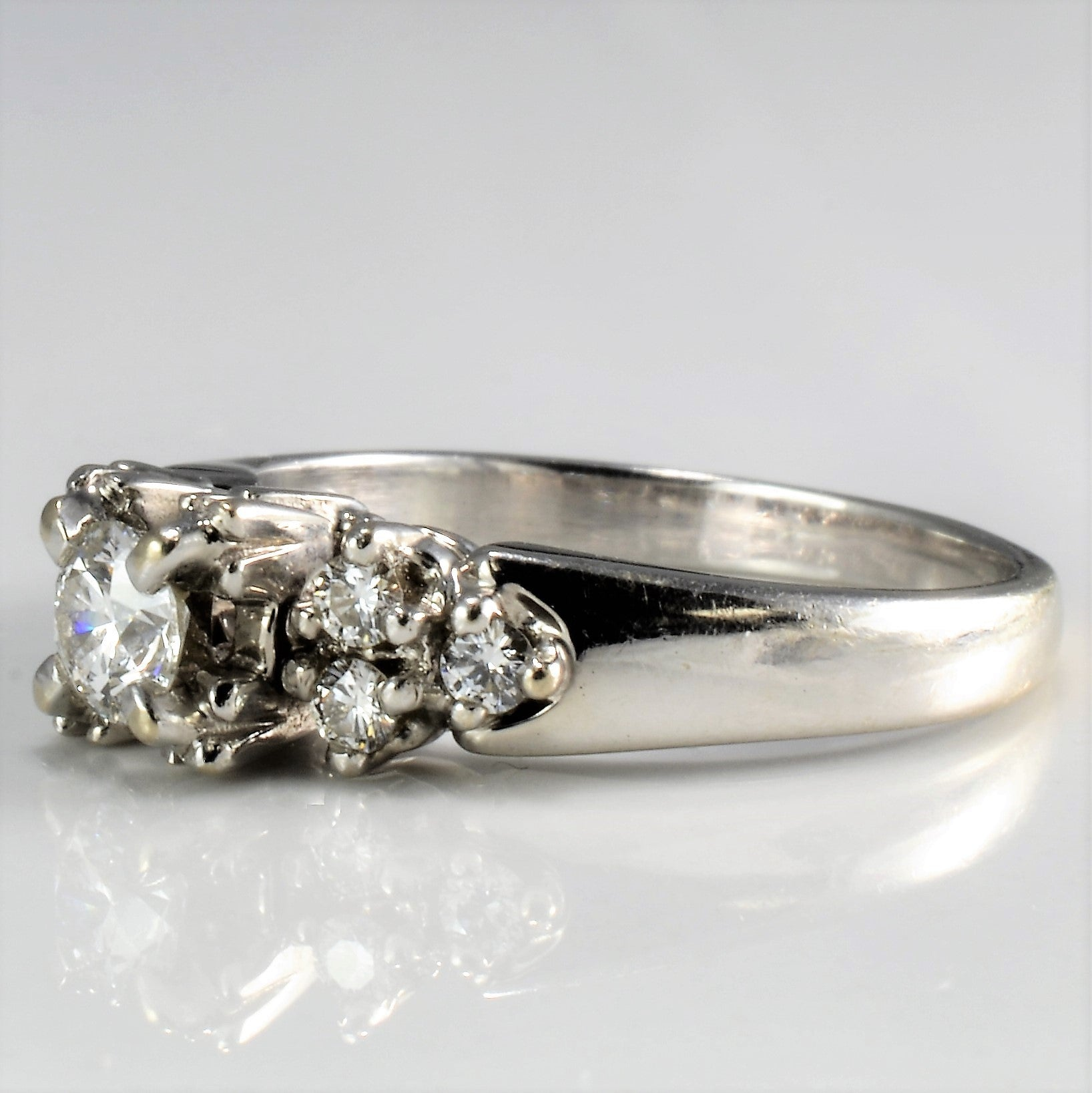 dcafa9b17ec3f Solitaire with Accents Diamond Engagement Ring | 0.35 ctw, SZ 5.5