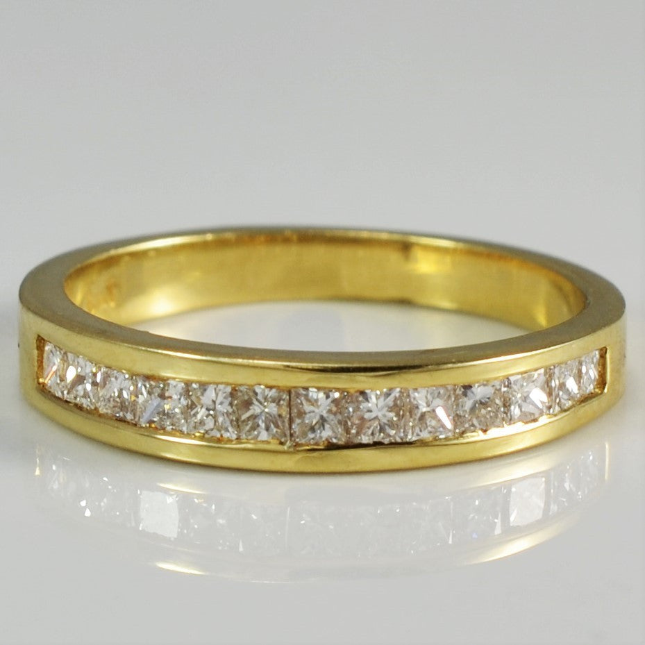 Channel Set Princess Cut Semi Eternity Band | 0.33 ctw, SZ 5.75 |