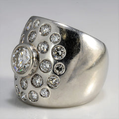 Platinum Multi Diamond Cocktail Ring | 2.00 ctw, SZ 5 |