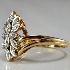 Floral Diamond Illusion Ring | SZ 6.25 |
