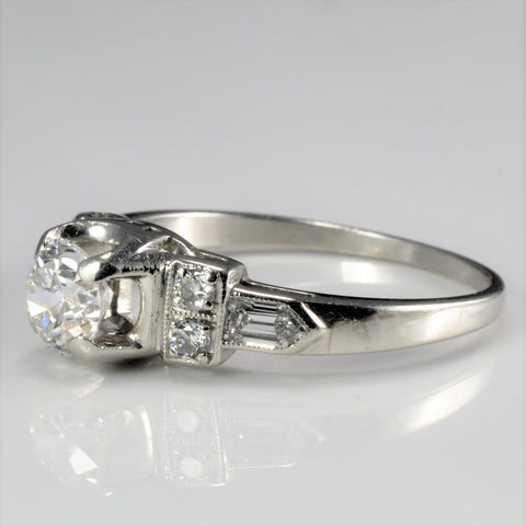 Art Deco Diamond Engagement Ring | 0.84 ctw, SZ 7 |