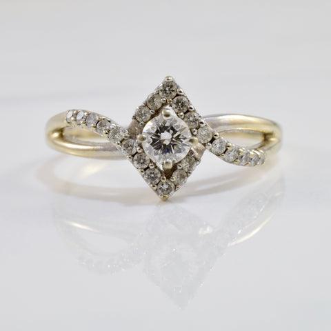 Bypass Diamond Engagement Ring | 0.55 ctw SZ 10.5 |