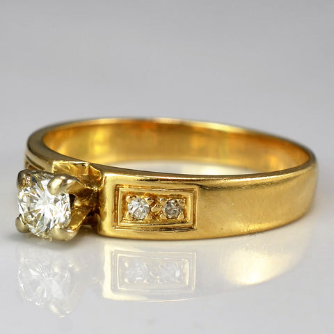 Vintage Engagement Ring | 0.30 ctw, SZ 6.75 |