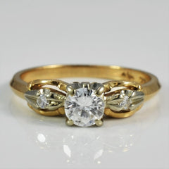 Bevelled Edge Diamond Engagement Ring | 0.40 ctw, SZ 6 |