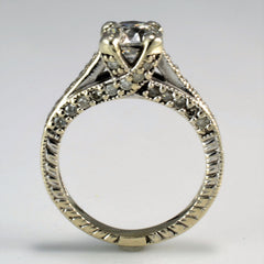 Milgrain Detailed Engagment Ring | 1.25 ctw, SZ 4.25 |