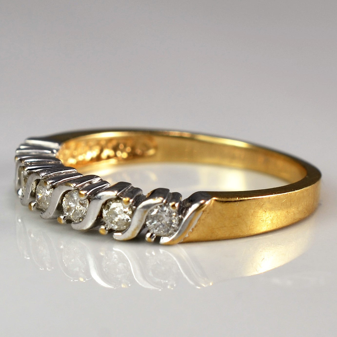 Two Prong Channel Diamond Band | 0.25 ctw, SZ 6.75 |
