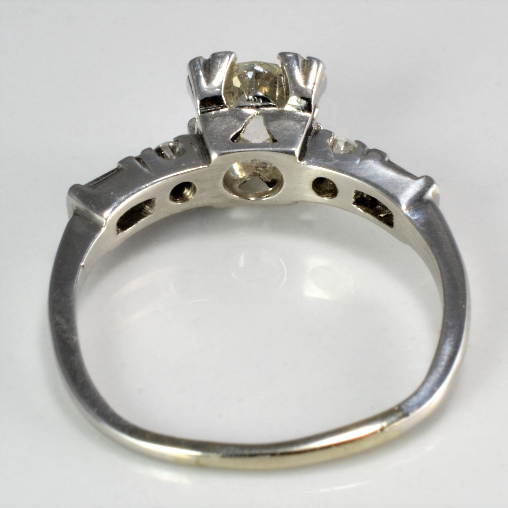 Edwardian Era Vintage Diamond Engagement Ring | 1.00 ctw, SZ 6.75 |