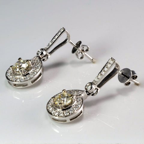Elegant White Gold Diamond Earrings Set | 1.30 ctw |