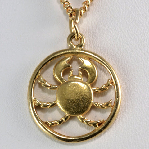 Unique Scorpio Round Pendant Necklace | 24''|