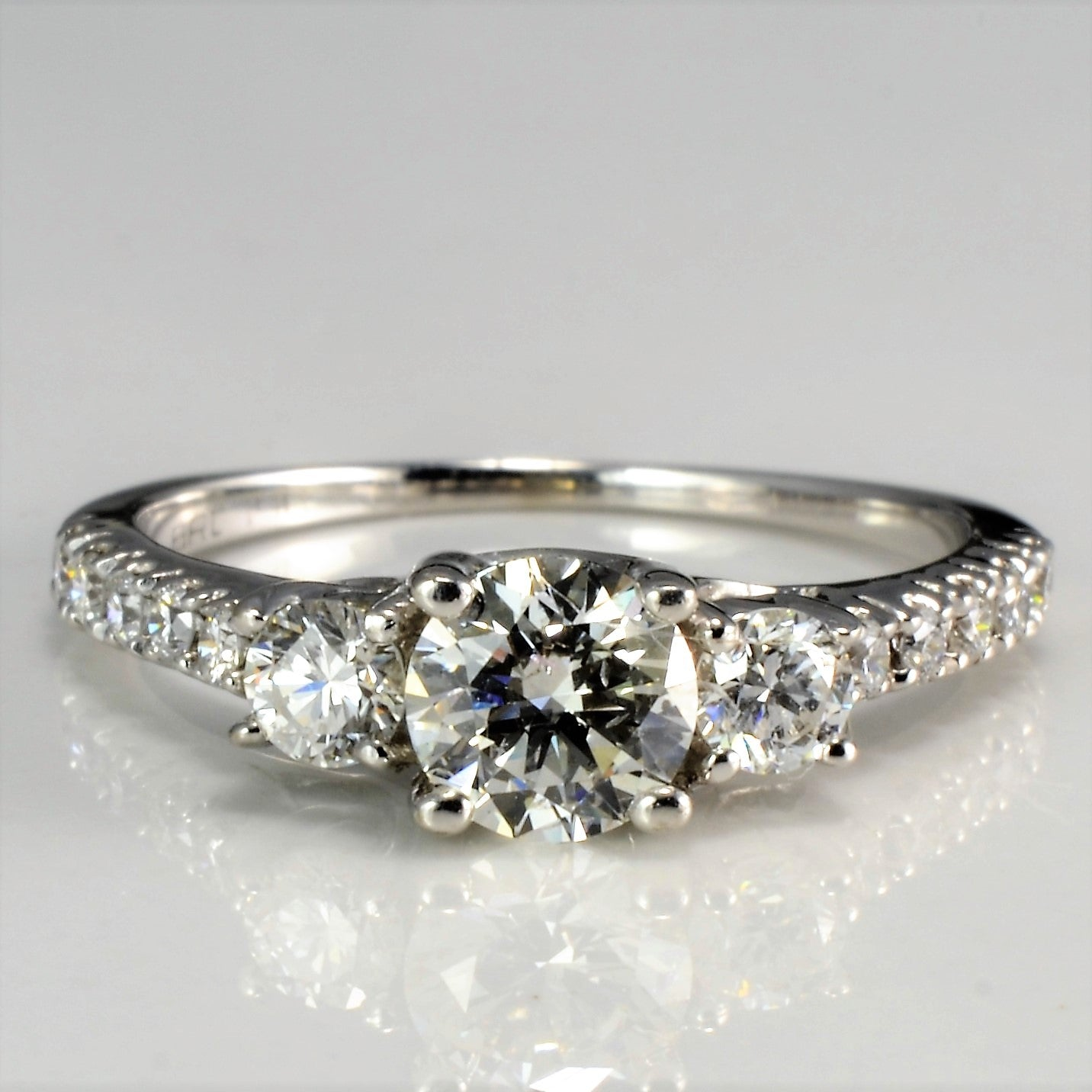 Three Stone Diamond & Accents Engagement Ring | 0.80 ctw, SZ 5 |