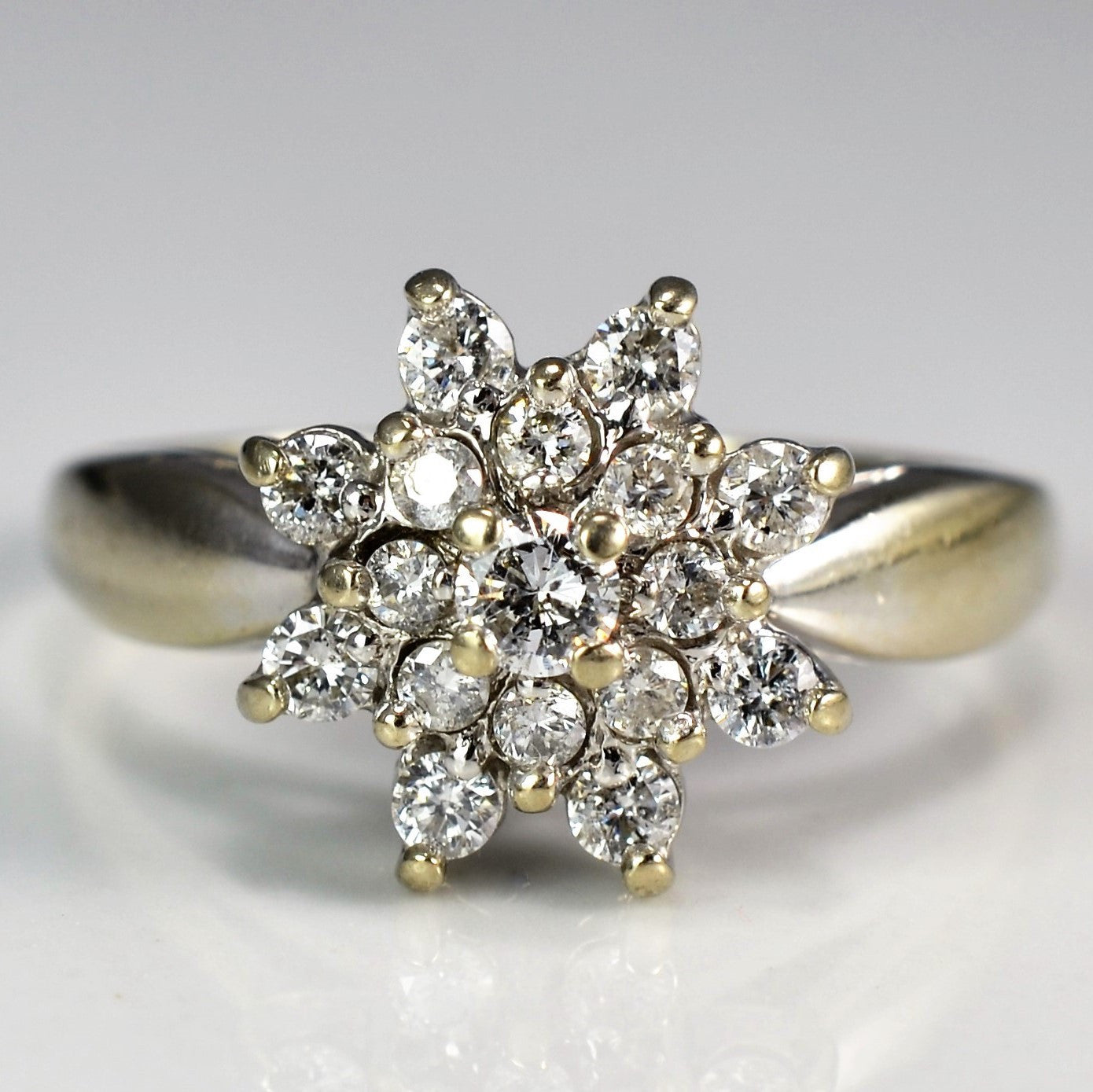 Starburst White Gold Diamond Ring | 0.40 ctw, SZ 7 |