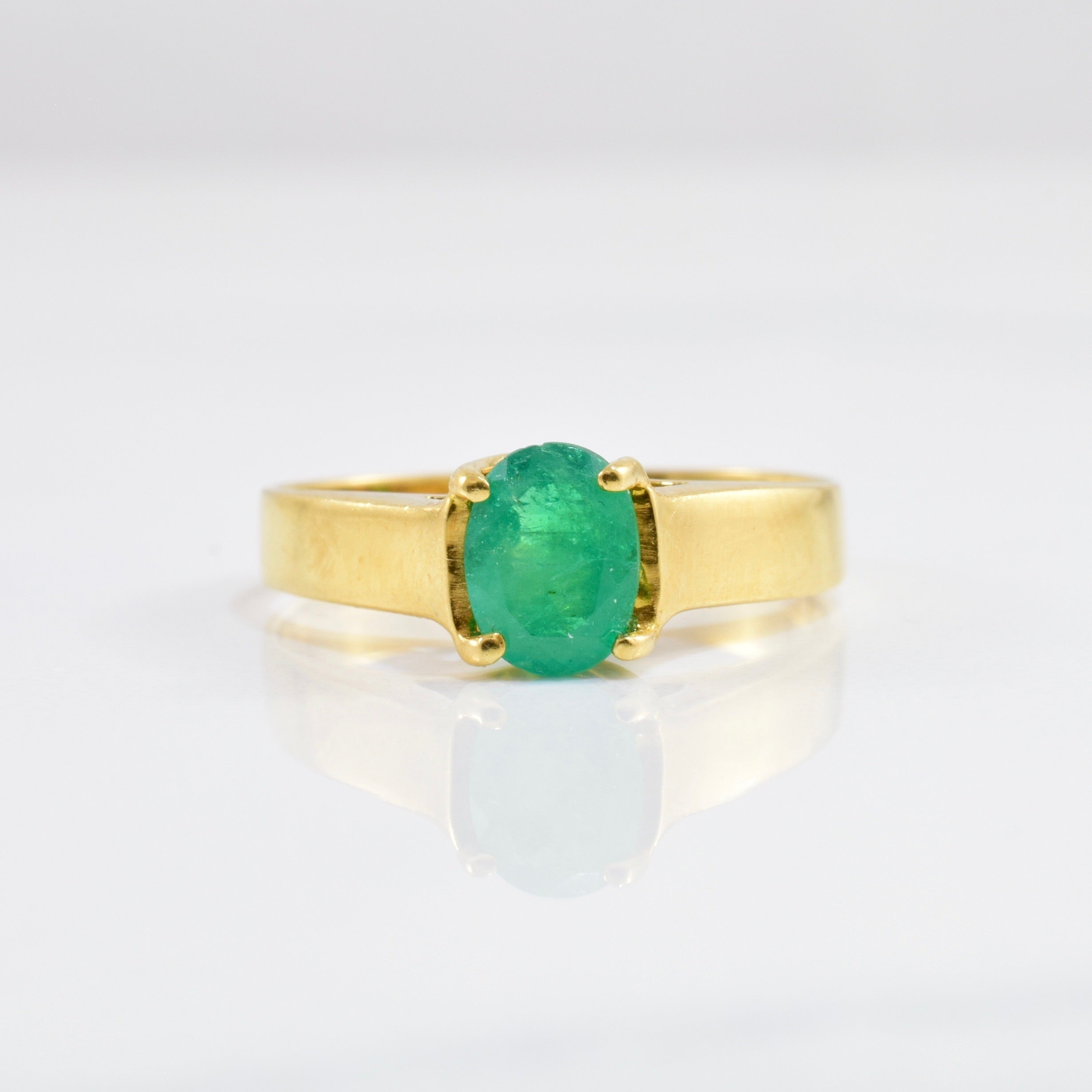 Emerald Solitaire Ring | SZ 5.75 |
