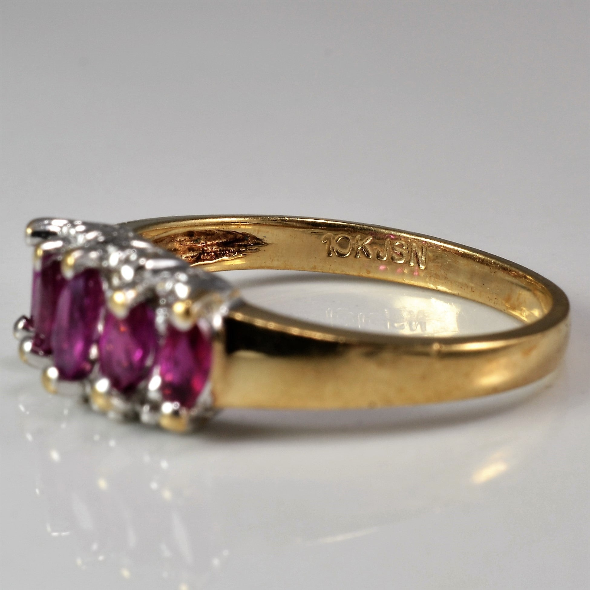 Marquise Cut Ruby Ring | 0.04 ctw, SZ 6.25 |