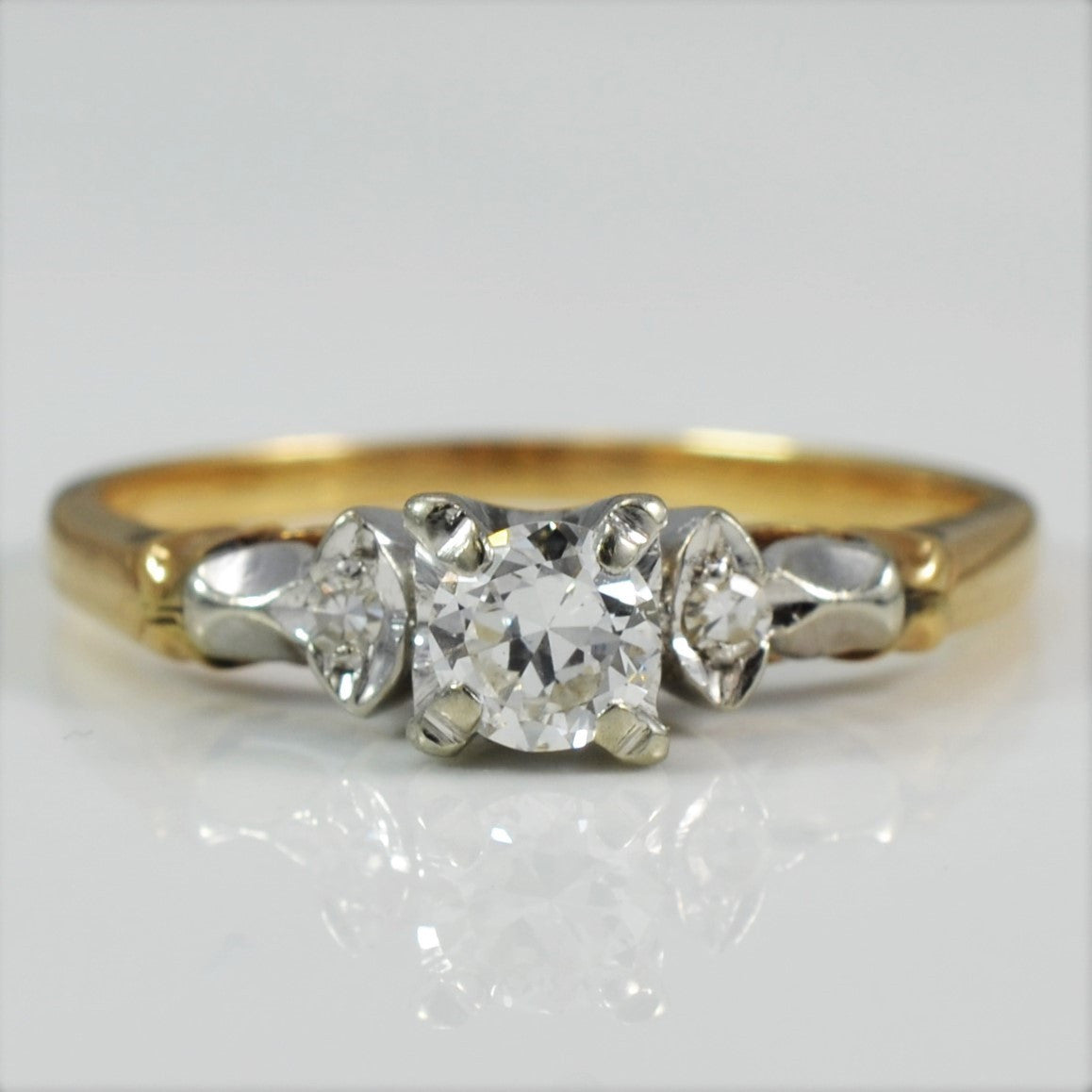 Retro Era Engagement Ring | 0.28 ctw, SZ 7 |