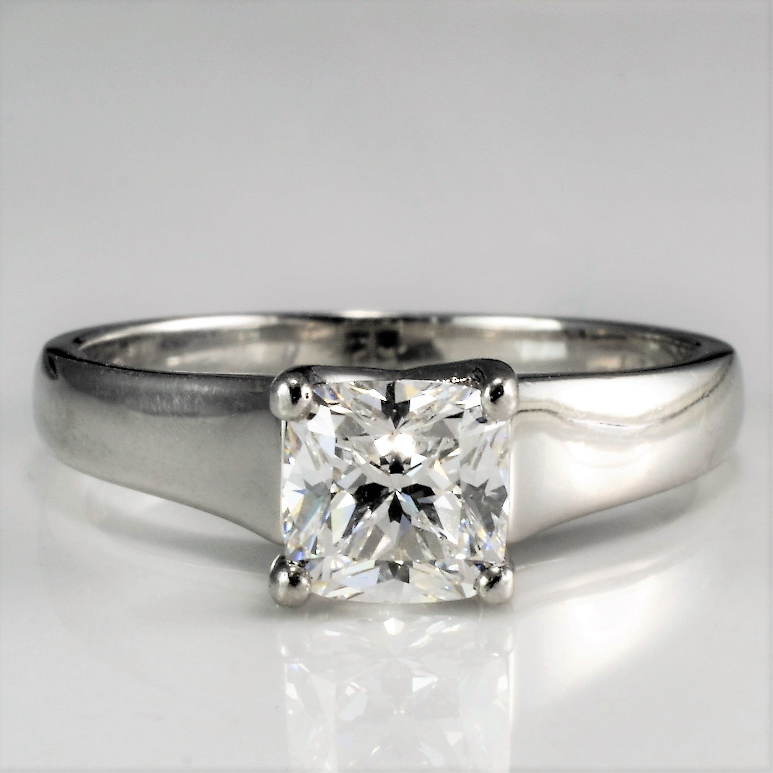 verona white engagement diamond cut view cushion cusion ring