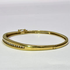 Diamond Channel Bangle | 0.50 ctw, 7.5"