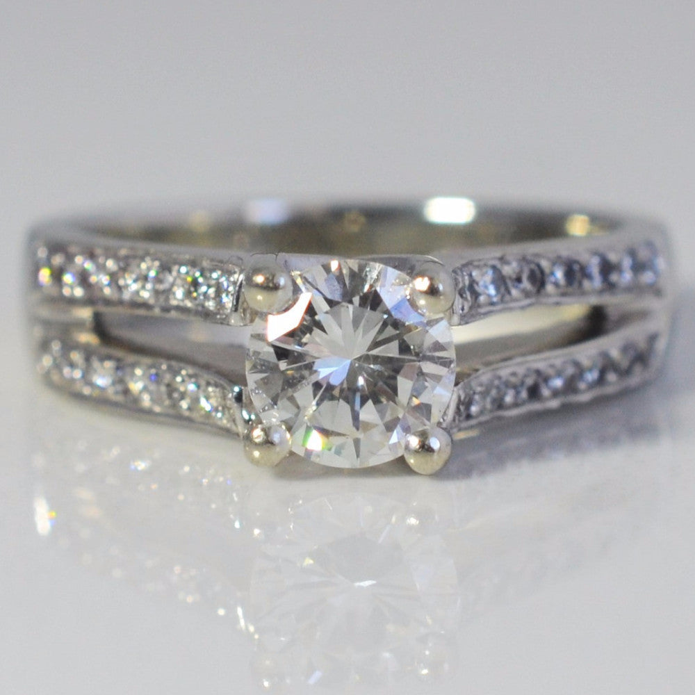 Split Shank Diamond Engagement Ring | 0.79 ctw, SZ 5 |