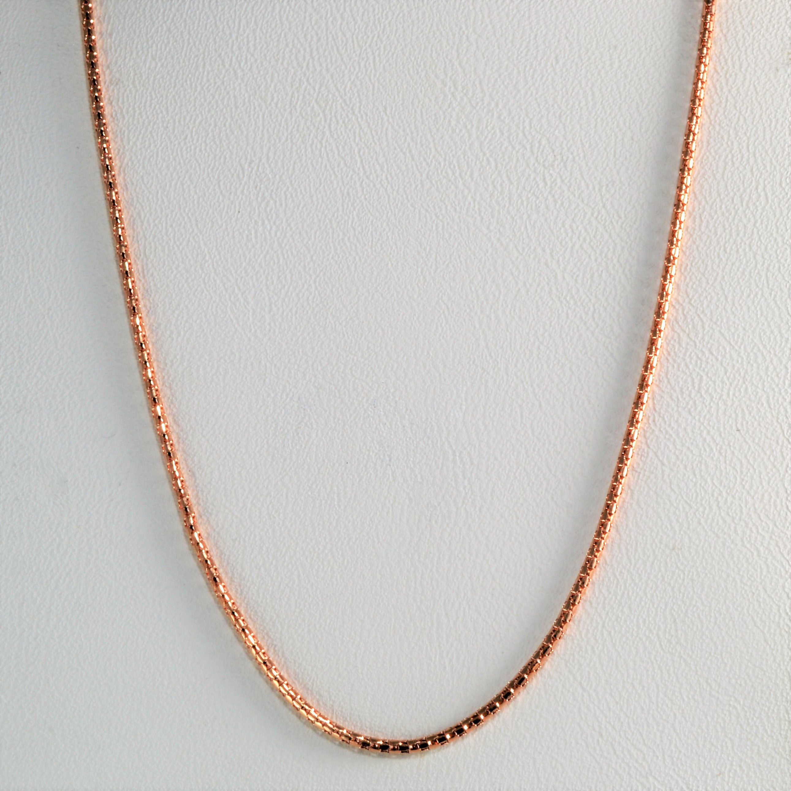 Rose Gold Snake Chain |20''|