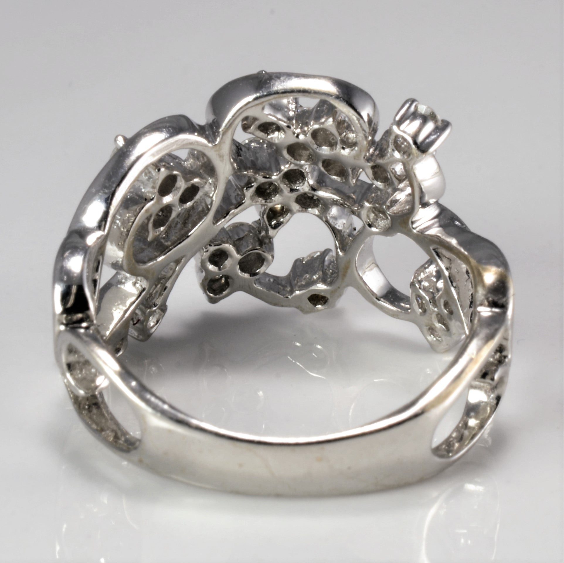 Floral Inspired Multi- Diamond Wide Ring | 0.60 ctw, SZ 6.75 |