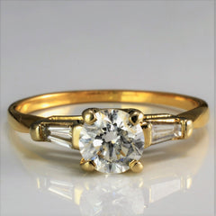 Three Stone Diamond Engagement Ring | 0.73 ctw, SZ 5.75 |