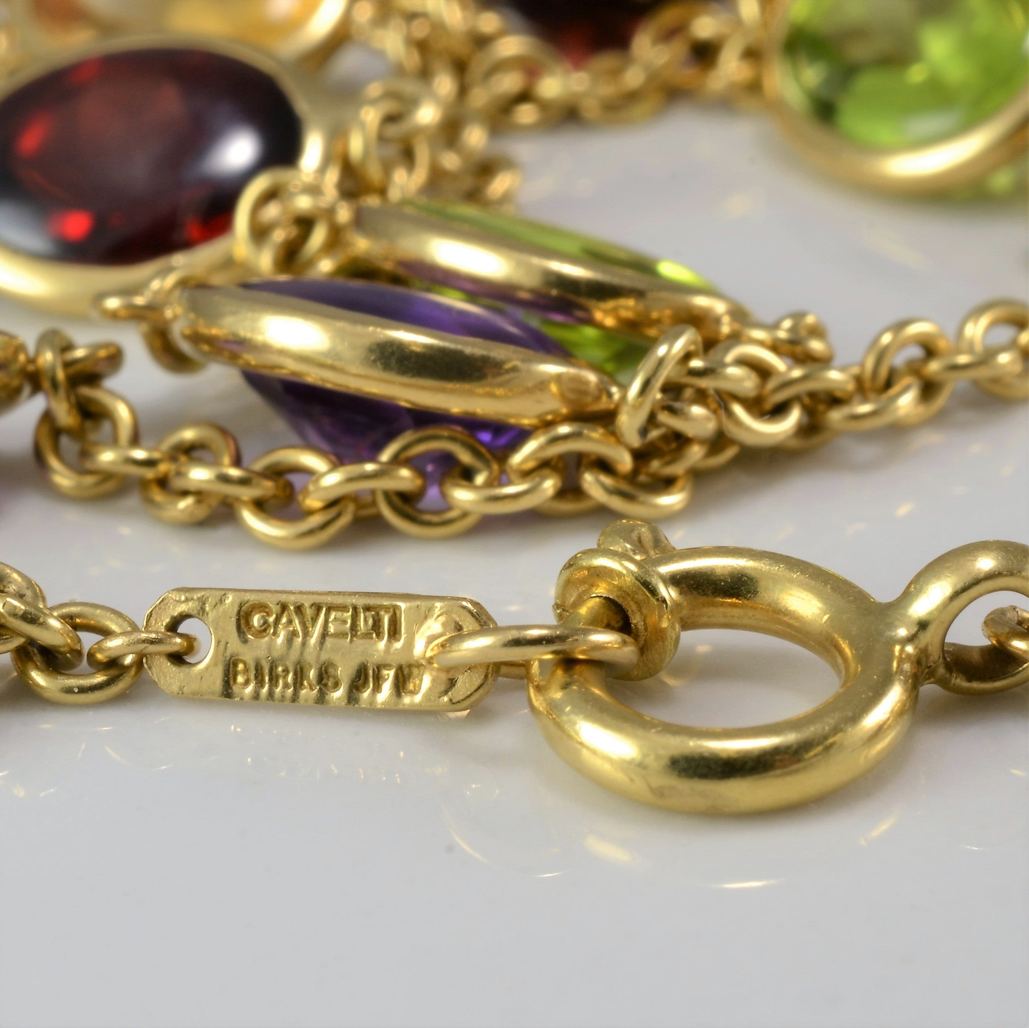 'BIRKS' Multi Gem Necklace | 18"