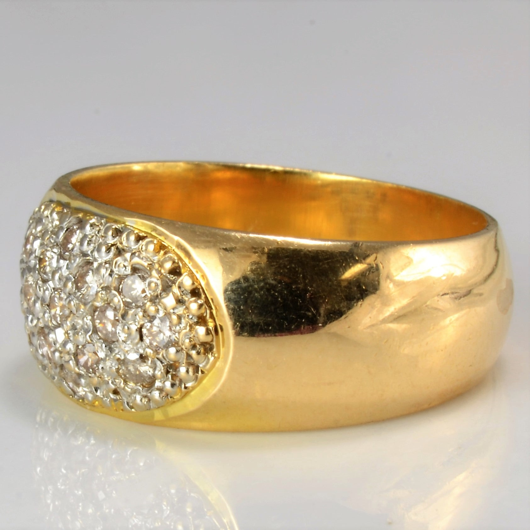 Cluster Diamond Wide Band | 0.21 ctw, SZ 5 |
