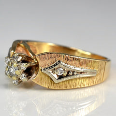 Vintage Textured Diamond Ring | 0.11 ctw, SZ 5.75 |
