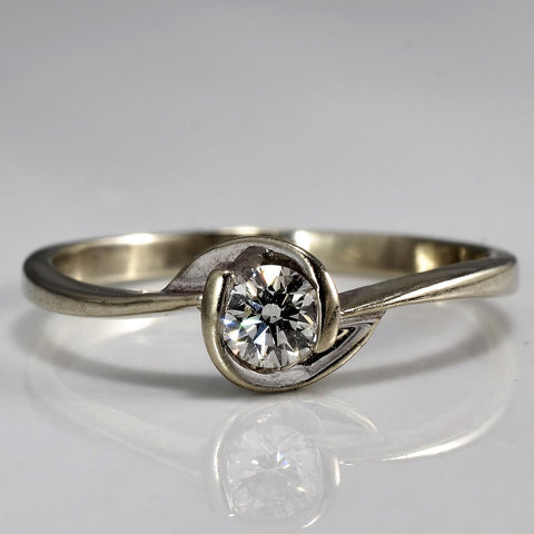 Delicate Diamond Solitaire Promise Ring | 0.16 ct, SZ 5.5 |
