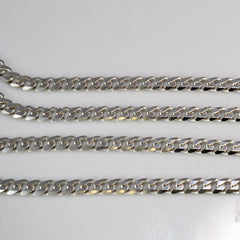Men's Solid Curb Link Chain |22''|
