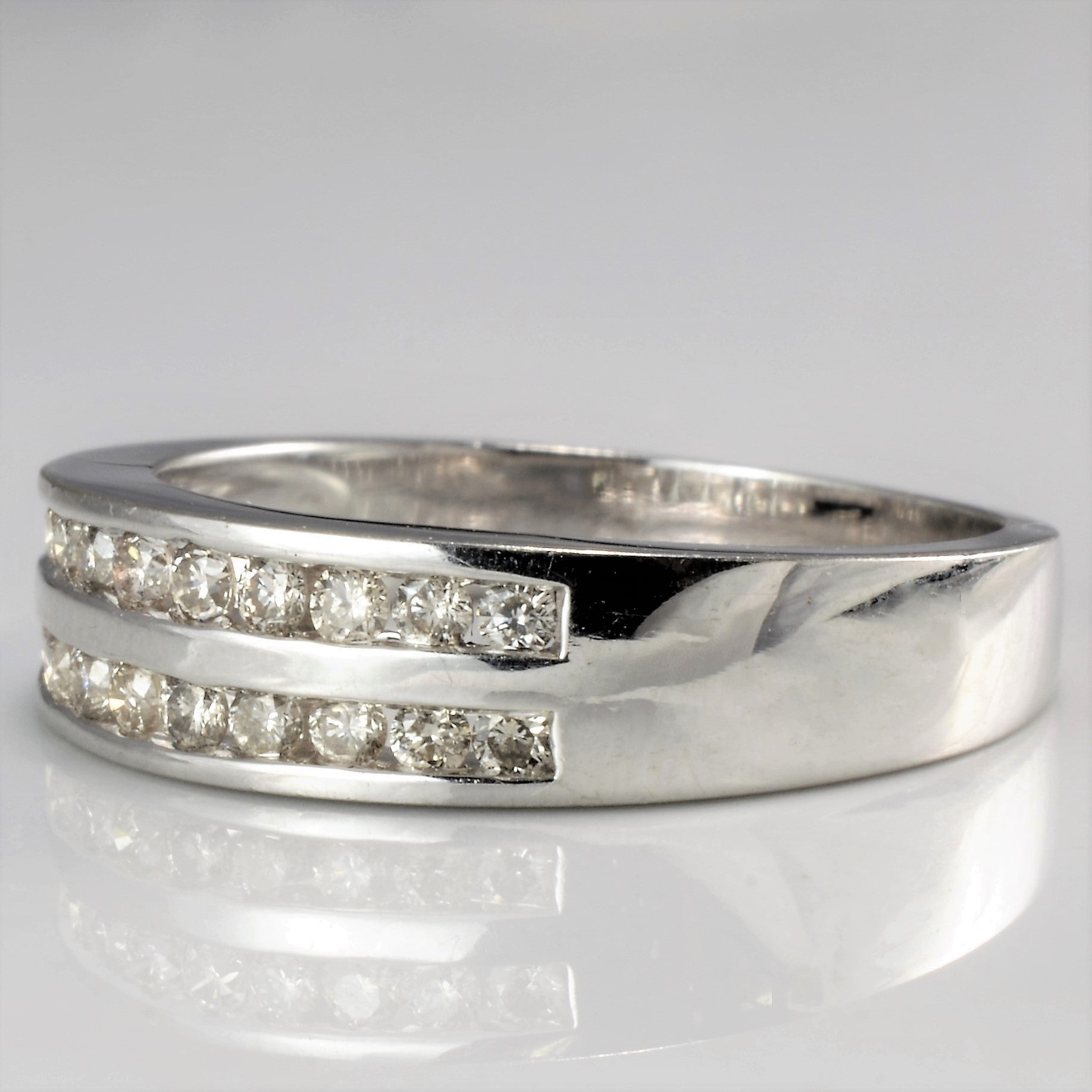 Double Row Semi Eternity Diamond Band | 0.34 ctw, SZ 6.5 |