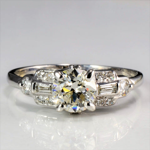 Edwardian Multi Diamond Engagement Ring | 0.72 ctw, SZ 5.75 |