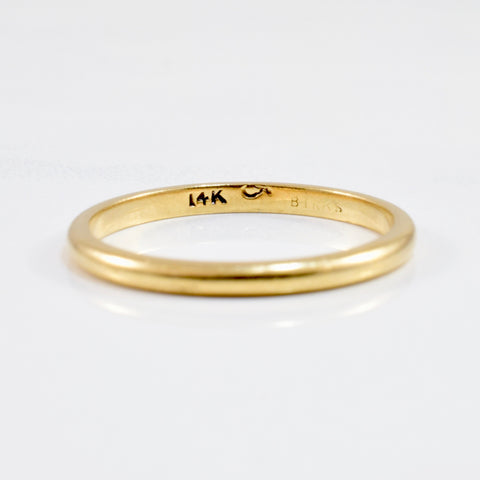 'Birks' 2mm Gold Band | SZ 7 |