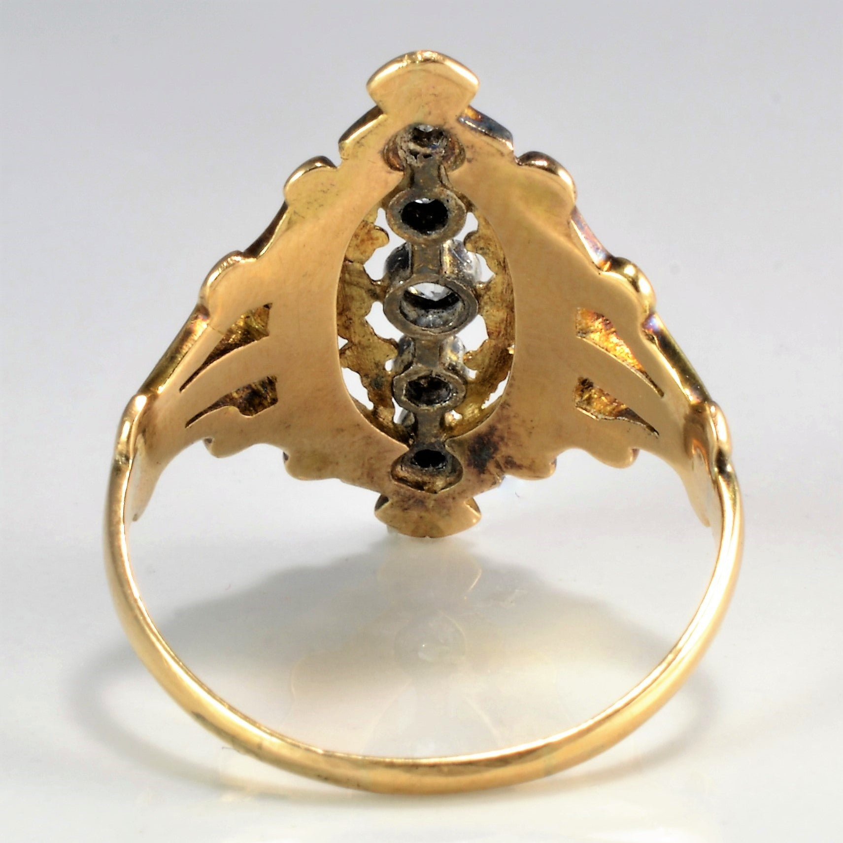 Vintage Marquise Shape Diamond Engagement Ring | 0.20 ctw, SZ 8.75 |