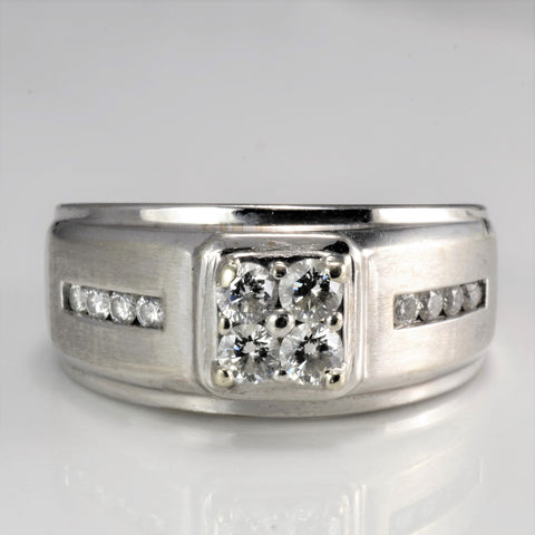 Cluster Diamond Men's White Gold Band | 0.52 ctw, SZ 8.25 |