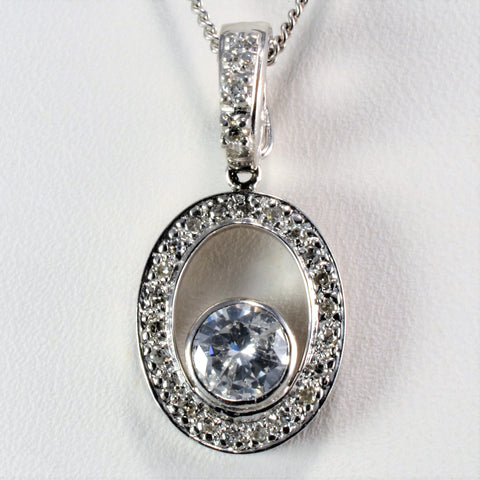 Eternity Diamond Pendant Ladies Necklace | 0.75 ctw, 18''|