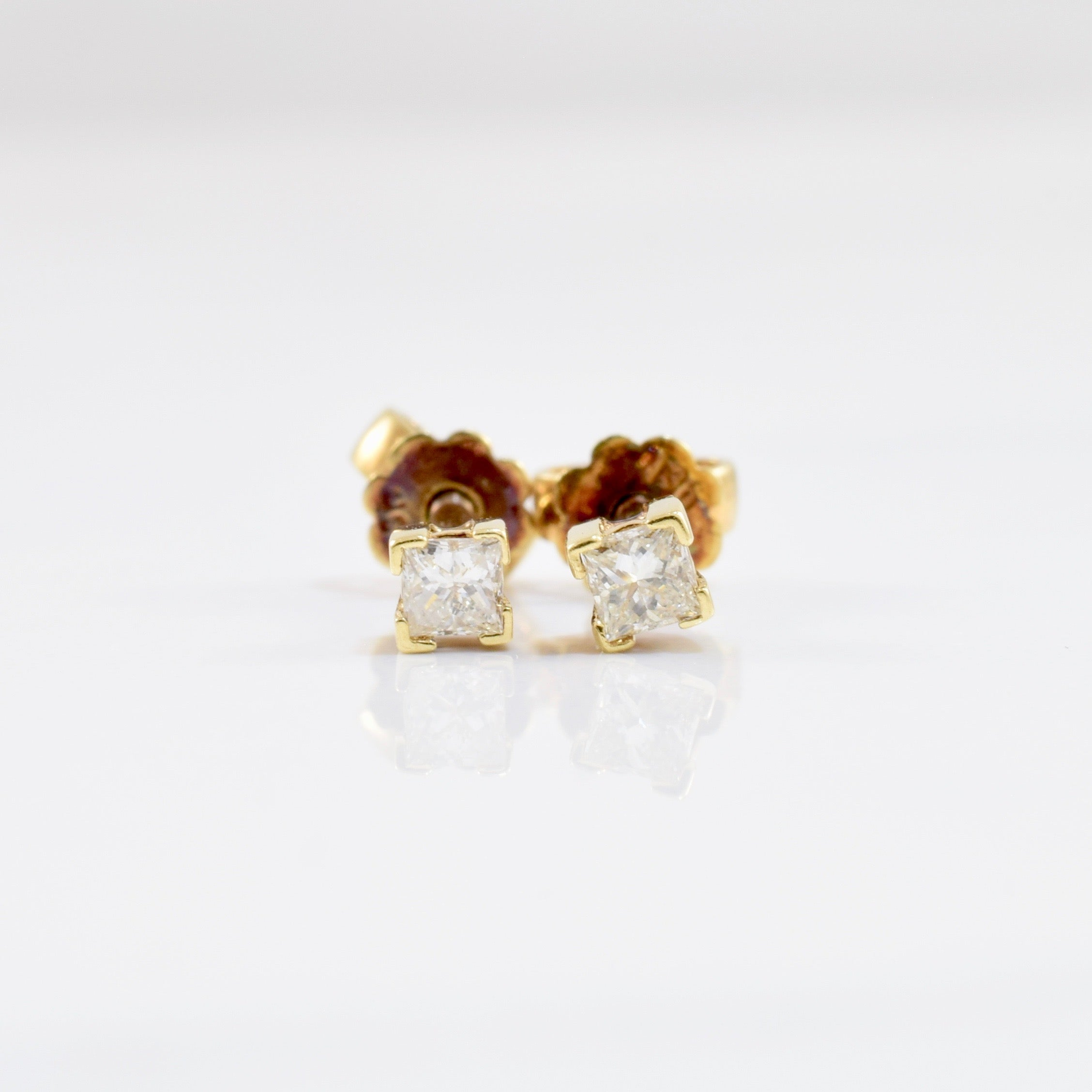 Princess Diamond Stud Earrings | 0.12 ctw |