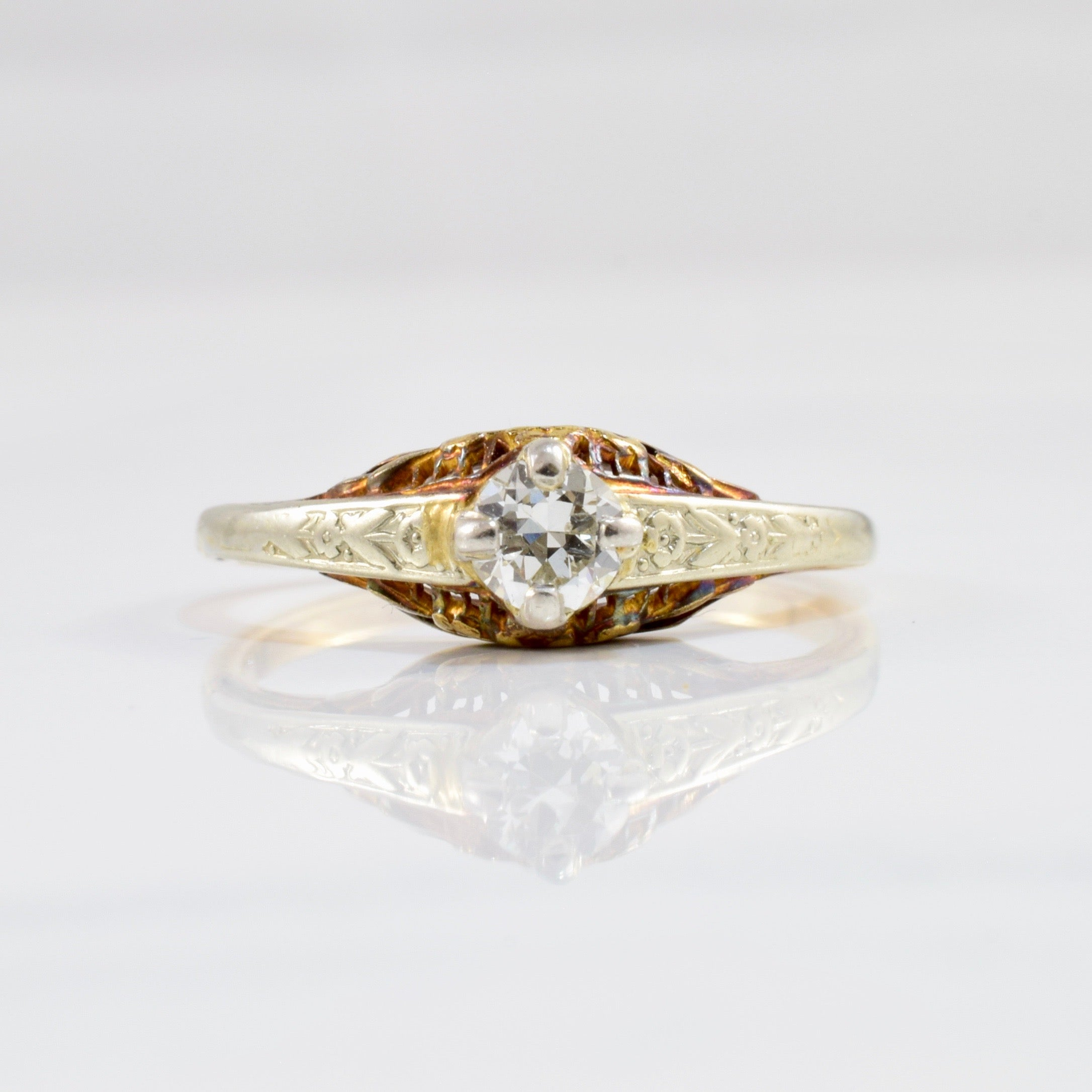 1940s Blossom Band Engagement Ring | 0.23ct | SZ 6.75 |
