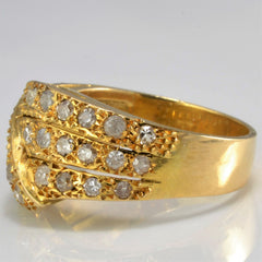 Textured Diamond Overlay Ring | 0.60 ctw, SZ 6.25 |